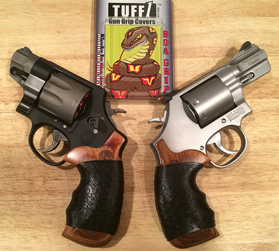 "Black Boa TUFF1 - ""Protects the factory wood grips and improves the feel of these 2 miniature hand cannons....love them !"" ~M.B."
