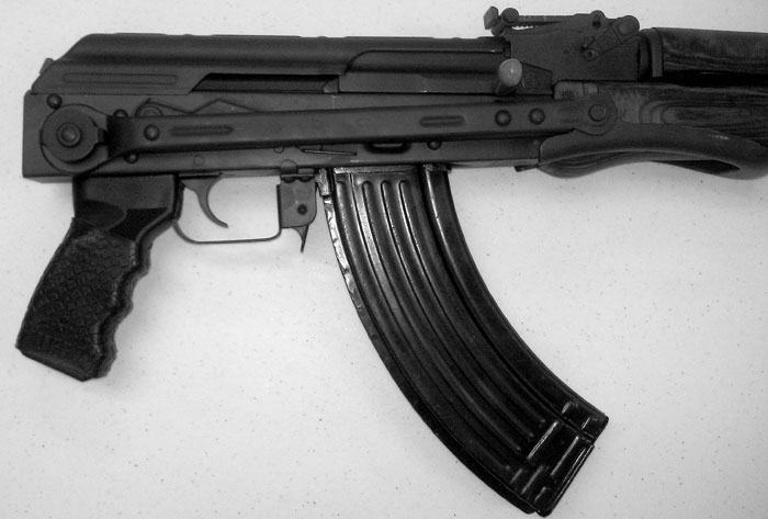 Check out the TUFF1 BOA Black on the grip of this AK-47