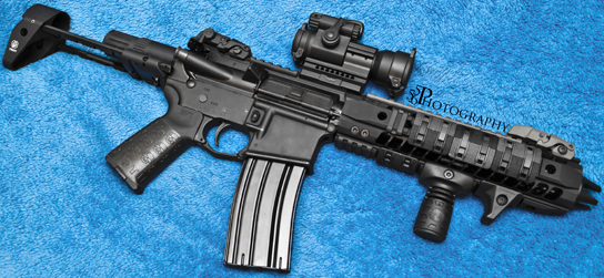 from B.P. 556 Photography -- AR-15 PDW with TUFF1 Black Death Grip