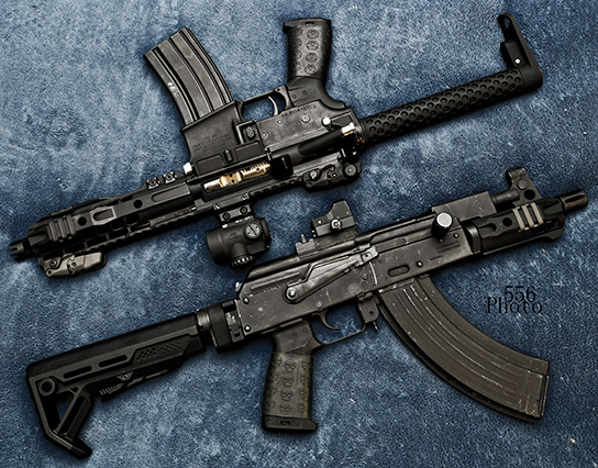 2 PDW's with Black TUFF1 Death Grip on each - from B.P