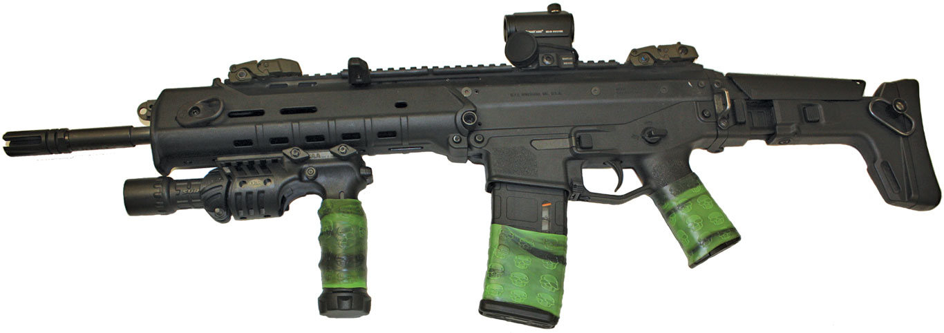 Bushmaster Adaptive Combat Rifle (ACR) with 3 TUFF1 Zombie Down! grips covers