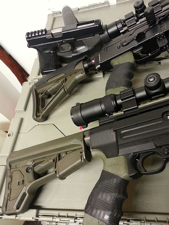 Great collection of firearms with TUFF1 Grips from satisfied customer -E.A.