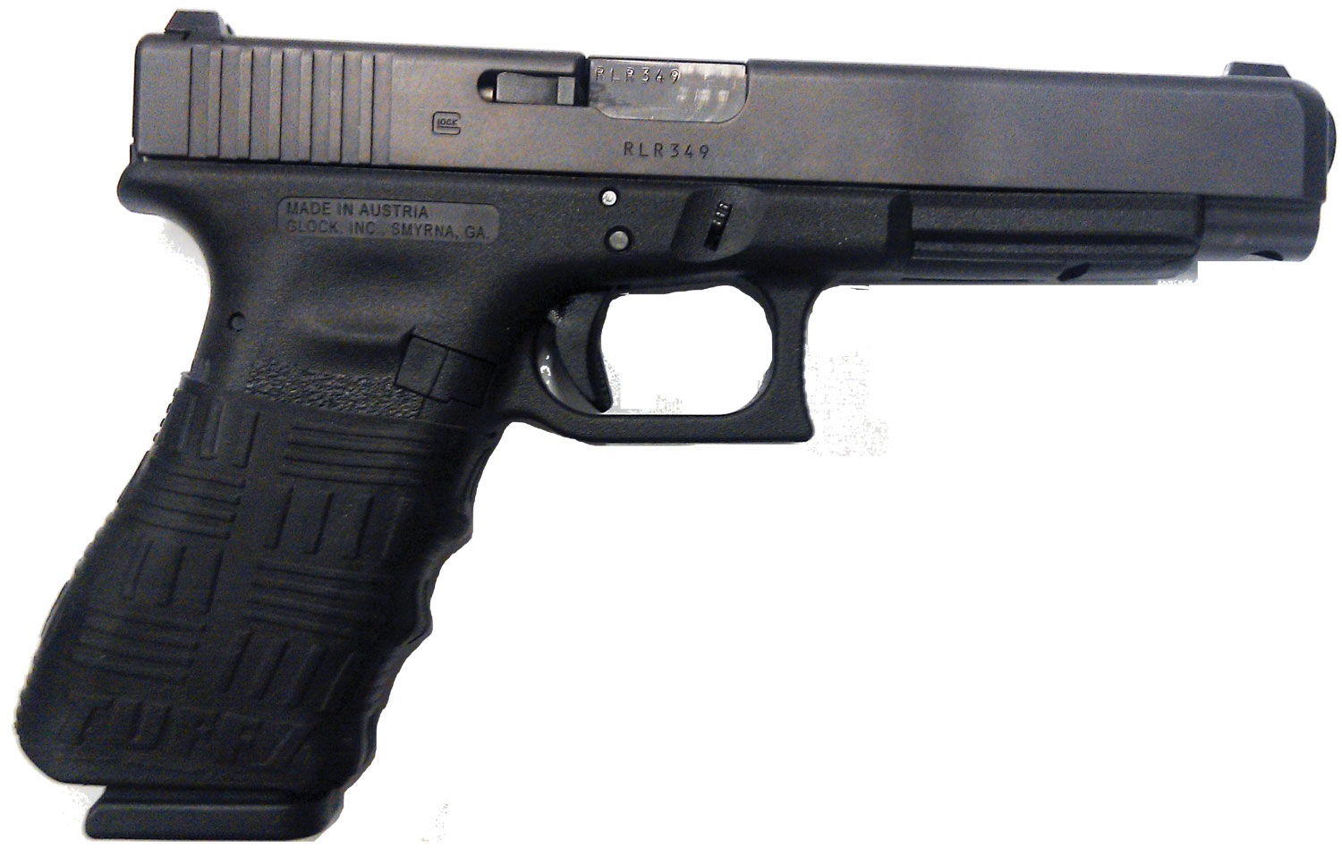 Glock with TUFF1 Black Double Cross Grip