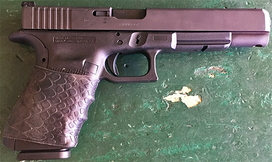 "Glock Gen 4 10mm with TUFF1 Black Boa ~ from J.K. ""The grip is awesome!"""