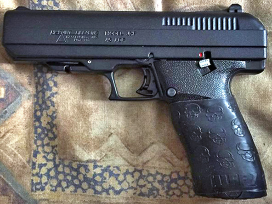 Hi-Point 45 ACP with TUFF1 Death Grip - sent in by C.F.