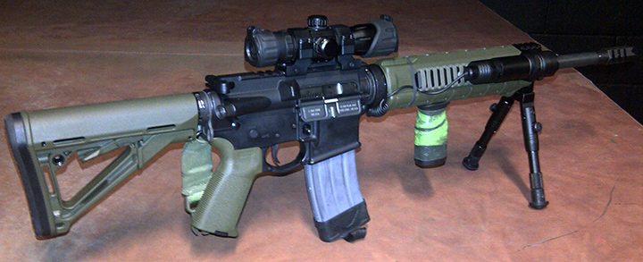 Bushmaster M4 5.56/.223 with Zombie Down on fore-grip