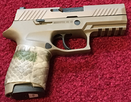 Sent in by J.W. Sig P320 9mm Compact with TUFF1 Boa AU Camo