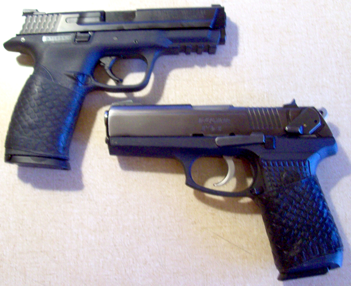 M&P (upper left) and Ruger (lower right) with TUFF1 Boa Black