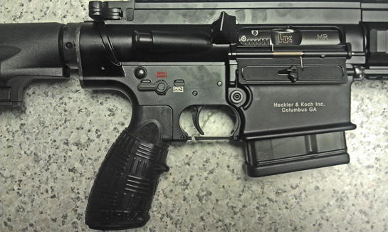 H&K MR762A1 with Black TUFF1 Double Cross Grip
