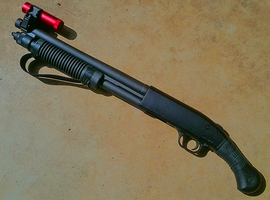 Mossberg Shockwave with Black TUFF1 Double Cross from T.J.B.