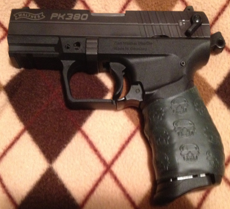 Walther PK380 with OD Green Death Grip