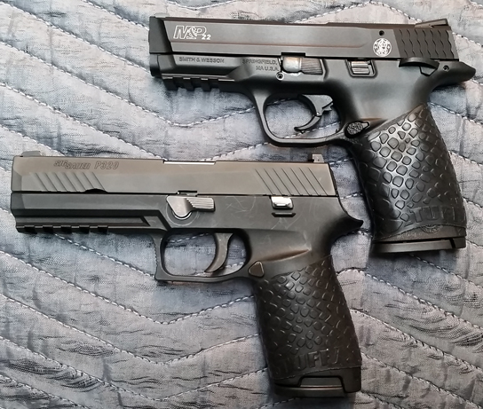 Sig P320 and M&P22 with TUFF1 Black Boa's