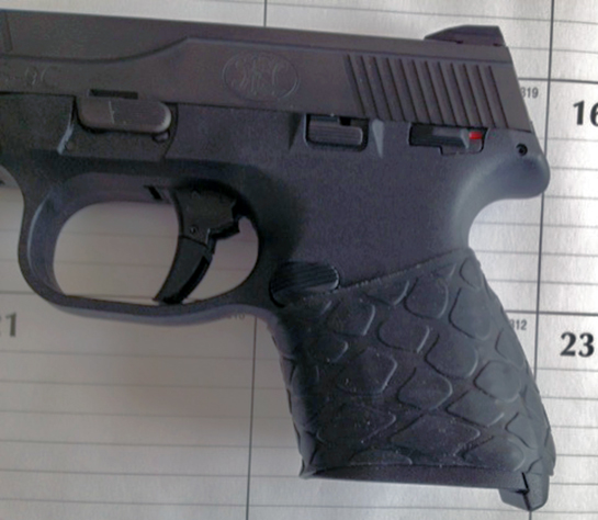FN9 Compact with TUFF1 Black Boa trimmed to fit ~ sent in by S.C.