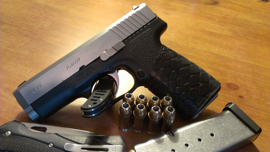 """WOW!! Great product...I will be getting more"" - TUFF1 Black Boa on Kahr CW45 .45acp"