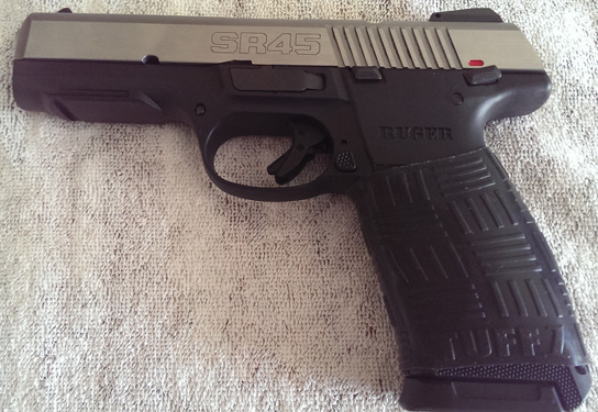 Ruger SR45 with TUFF1 Black Double Cross