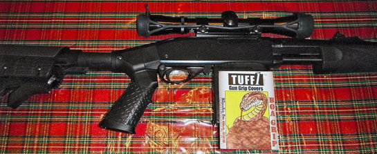 TUFF1 Boa Grip Black on Remington 7600 30-06. I am VERY pleased with them.