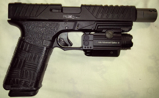 This TUFF1 Double Cross Grip changes the whole feel of my Glock 17...what a Great Product ! ~ KB