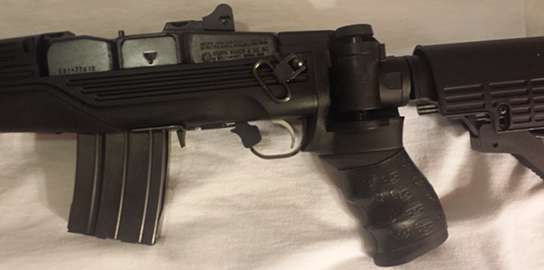 TUFF1 Black Death Grip on Ruger Police Tactical Mini 14