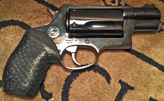 "Taurus Judge Public Defender with Boa Black TUFF1...""placed on a ribber grip on the Judge Public Defender. Love it! ~DW"