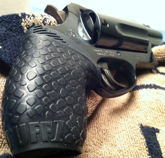 "Alt Angle Pic - Taurus Judge Public Defender with Boa Black TUFF1...""placed on a ribber grip on the Judge Public Defender. Love it! ~DW"