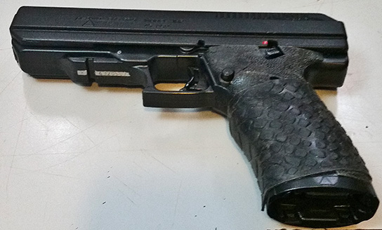 From W.M. ~ Hi-Point JHP45 with TUFF1 Black Boa Grip