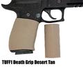 TUFF1 Death Grip texture in Desert Tan on Sig