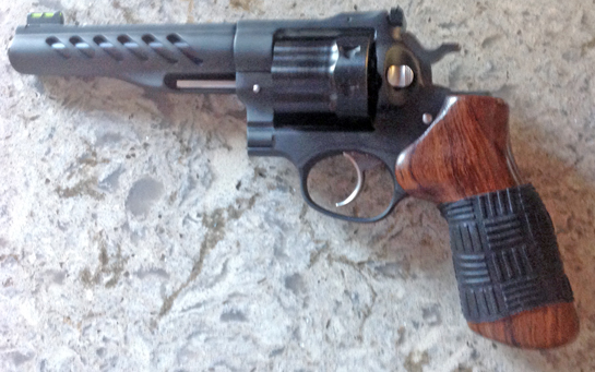 D.B. sent us a pic of his Ruger Super Redhawk with Black TUFF1 Double Cross