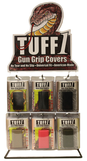 TUFF1 Point of Sale Display Rack with 25 Grip Covers