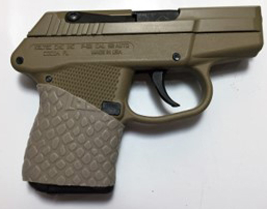 Kel Tec P32 with Desert Tan TUFF1 Boa Grip - trimmed to fit