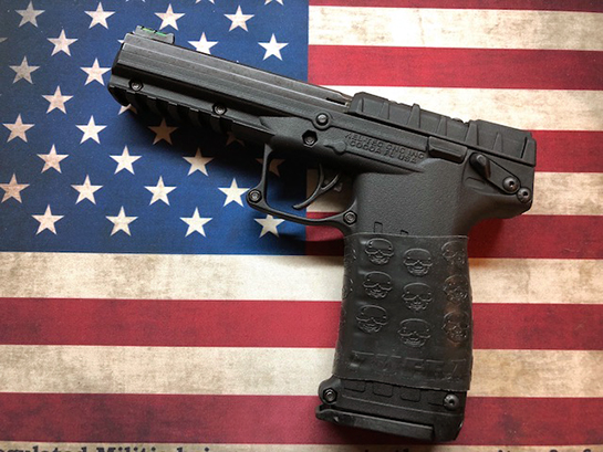 "Kel-Tec PMR-30 with TUFF1 Black Death Grip. Sent in by S.H. ""Love the grip on my Kel-Tec PMR-30! Can't wait to try it out. Will definitely recommend to friends"""