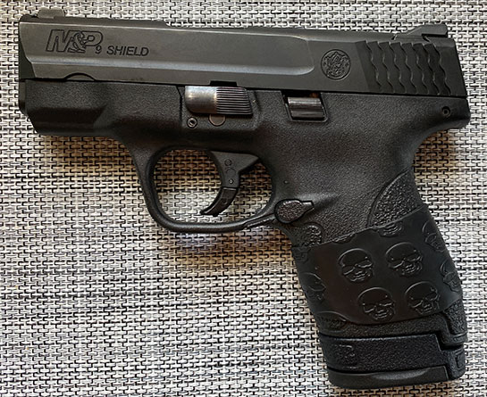 M&P Shield with Trimmed TUFF1 Death Grip